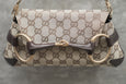 Gucci GG Canvas Horsebit Chain Clutch
