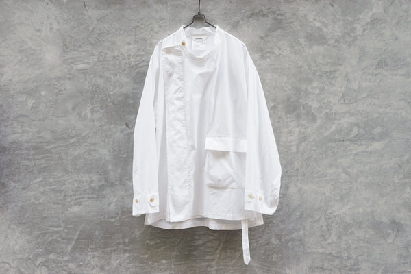 DIGAWEL Stand-Up Collar W Shirt White