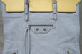 Balenciaga Papier Flap Tote Leather Medium Light Blue