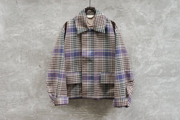 Jieda Check Flight Jacket Beige