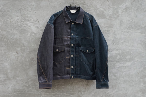 Jieda Switching Denim Jacket Indigo
