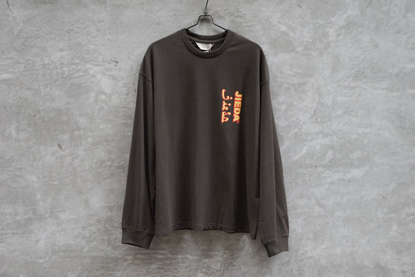 Jieda Jieda Logo L/S T-Shirt Brown