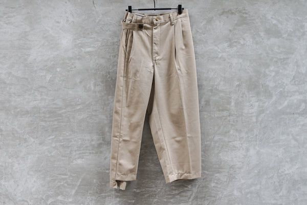 77 Circa Make Fold Adjust Khaki Trousers Khaki - OKURA