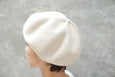 Mature Ha. Beret Top Gather Big Light Beige