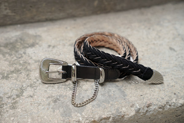 Jieda Western Belt Black