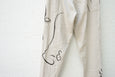 Easy To Wear Drawstring Pant - Linen Canvas (Drawing) Off White - OKURA