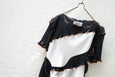 Todo Kotohayokozawa Regular Pleats Tops Short Sleeve No Collar Black - OKURA