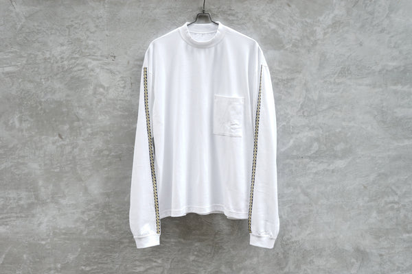 Clamp Myanmar Embroidery Tee Side Tape  White