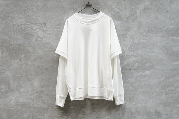 Rainmaker Layered Sweat Shirt White