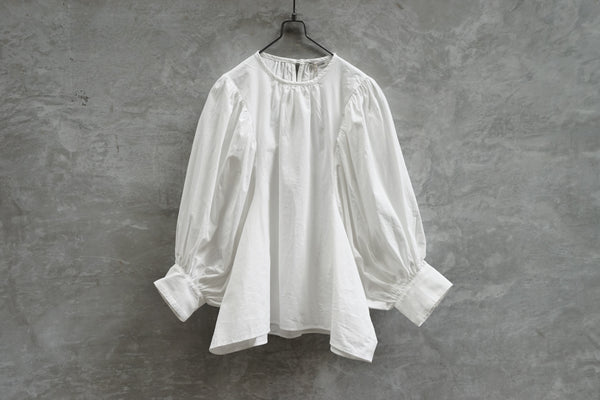 Clane Scoop Puff Tops White