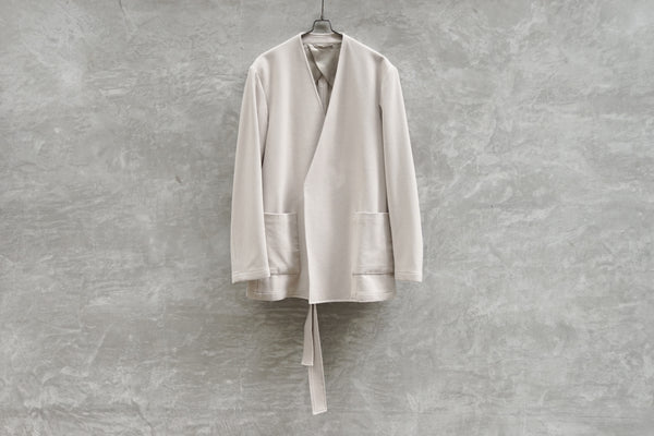 Rainmaker Stretch Belted Jacket Off White