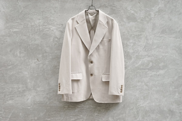 Rainmaker Stretch Single Breasted Jacket Off White