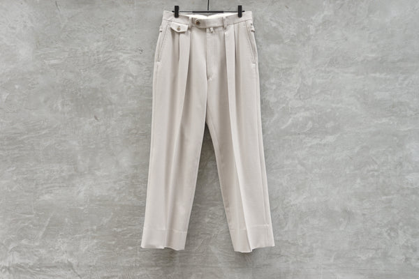 Rainmaker Stretch Wide Trouser Off White