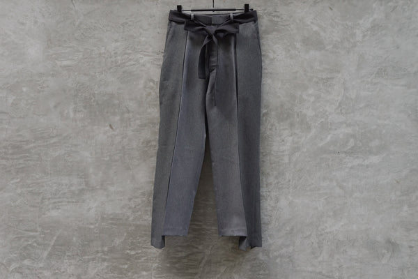 77 Circa Circa Make Switching Wide Belted Slacks Grey