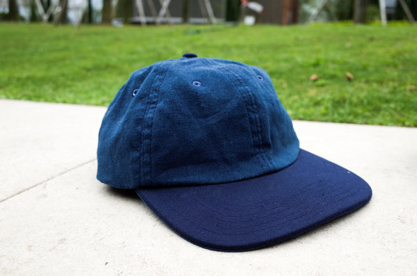Easy To Wear Cap Linen Canvas Blue - OKURA