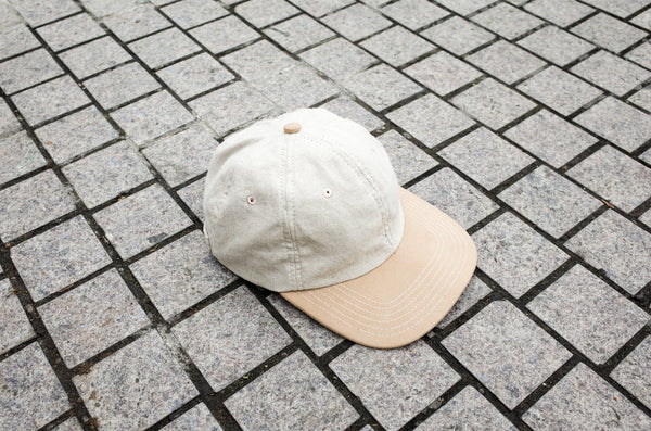 Easy To Wear Cap Linen Canvas Off White - OKURA