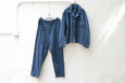 Easy To Wear Drawstring Pant - Linen Canvas Blue - OKURA