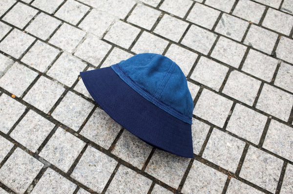 Easy To Wear Hat Linen Canvas Blue - OKURA