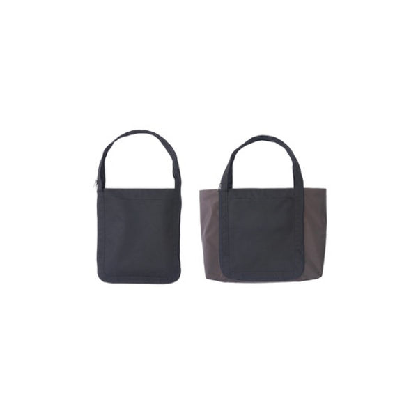 H Concept Topolopo Tote Bag Black X Brown - OKURA