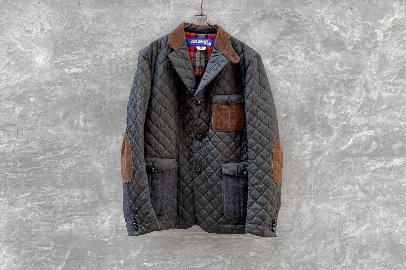 Junya Watanabe MAN Comme Des Garcons Patchwork Quilted Hunting Jacket AD2014