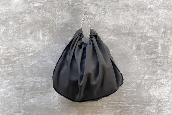 Comme des Garcons Wool Metal Chain Bag Black