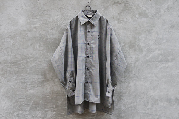 Jieda Check Over Shirt Grey - OKURA