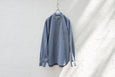 Nepla Fake Collar Shirt / Men Navy - OKURA