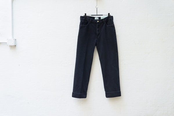Nepla Roll-Up Straight Bntanical Jeans / Men Black - OKURA
