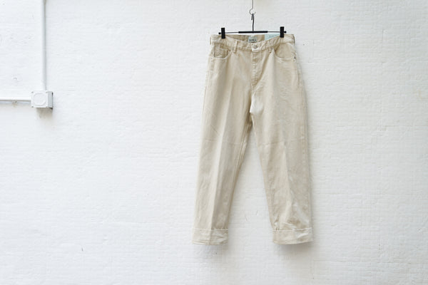 Nepla Roll-Up Straight Bntanical Jeans / Men Off White - OKURA