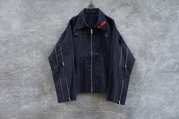 Phingerin Zip Run Jacket Navy - OKURA