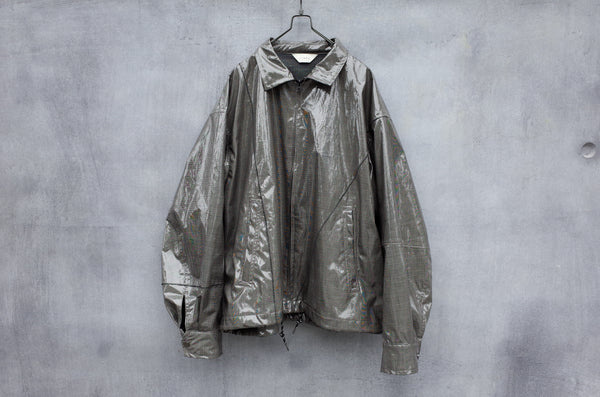 Jieda Laminate Switching Jacket Grey - OKURA