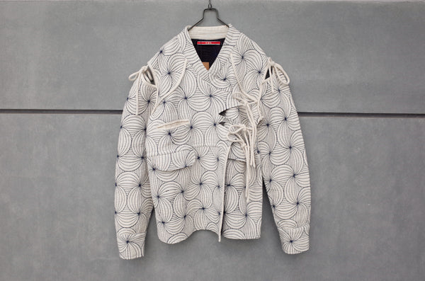 Leh Rabari Quilting Jkt Off White
