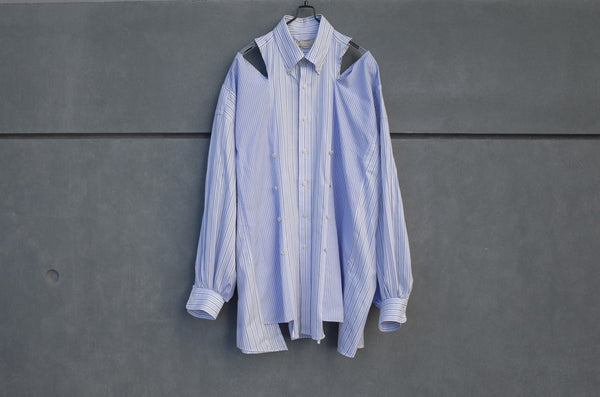 77 Circa Circa Make Slit Shoulder Adjustable Width Wide Shirt Blue