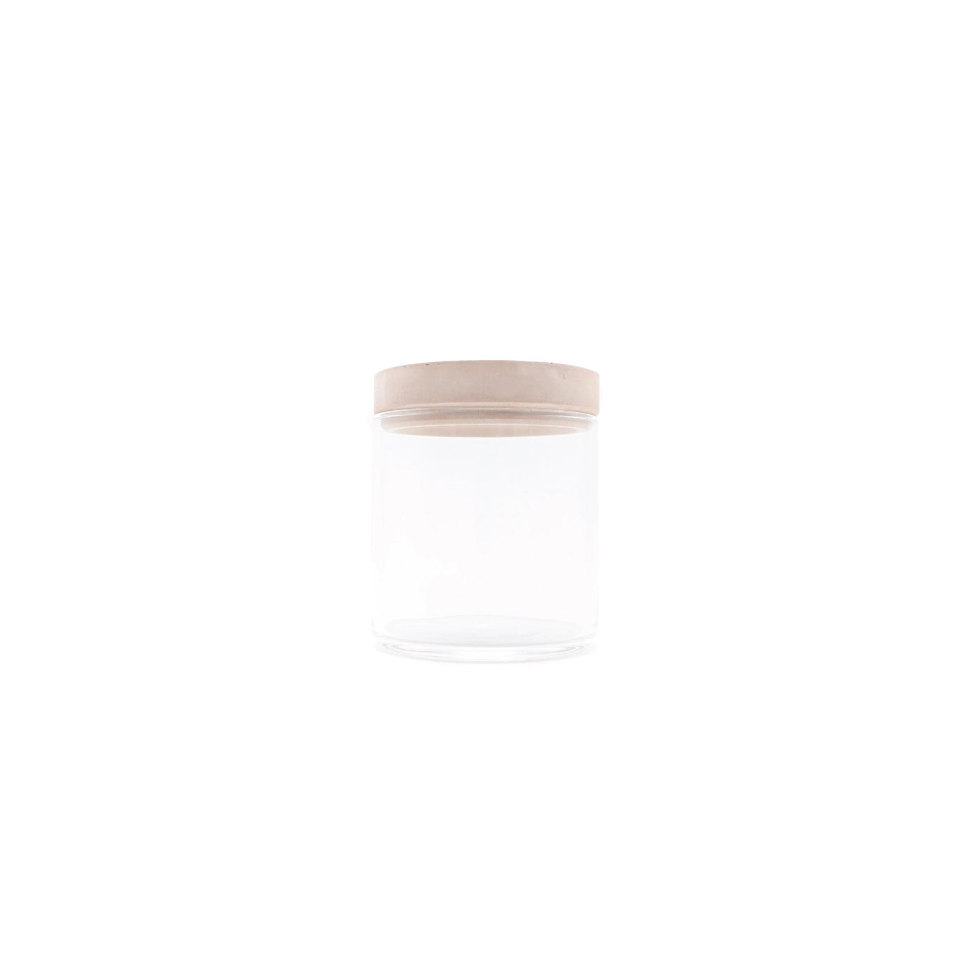 Soil Food Container Glass Pink - OKURA