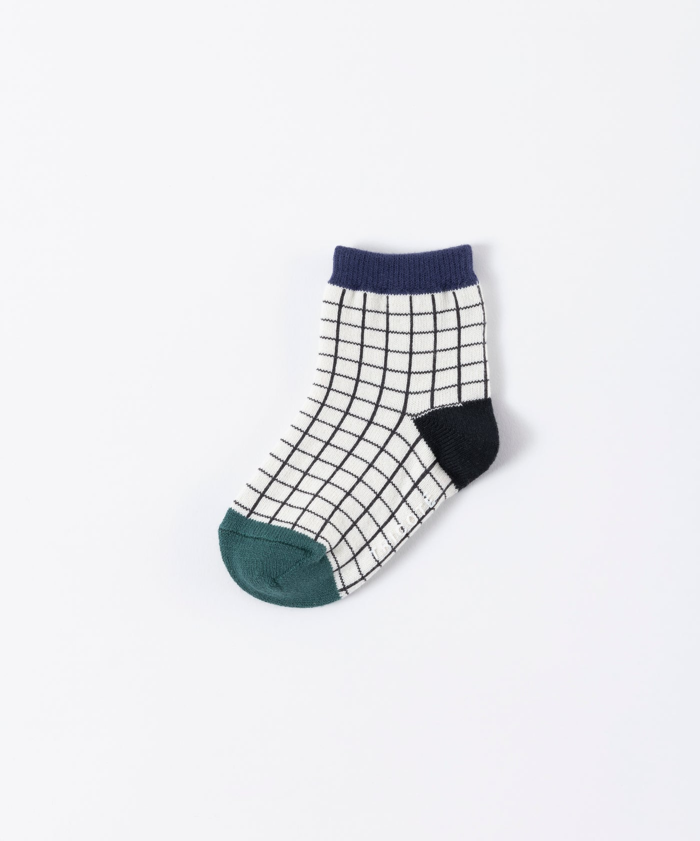 Tricote Kids Checks Stripe Socks Blue - OKURA