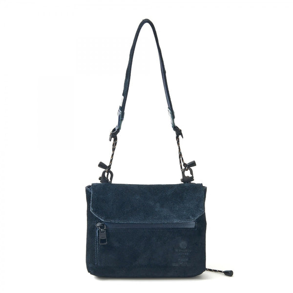 AS2OV Waterproof Suede Sacoch Wallet Navy - OKURA