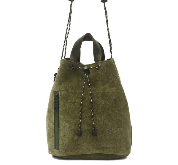 AS2OV Waterproof Drawstring Bag Khaki - OKURA