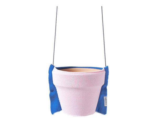 Tricote Hanging Plant Pot Cover S Pink