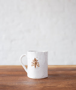 Ivory with Gold Tree Mug