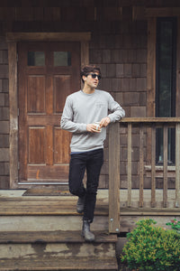 L/L Supply Mens Supply Crew - Grey
