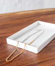Load image into Gallery viewer, Par Ici 2-Tone Infinity Necklace