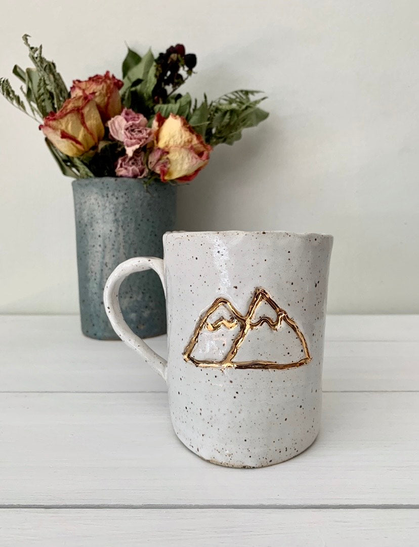Ivory with Gold Mountains Mug