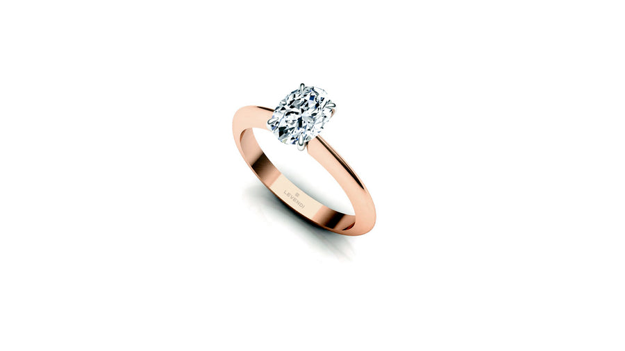 CLASSIC LEVENDI - OVAL - 18CT ROSE GOLD