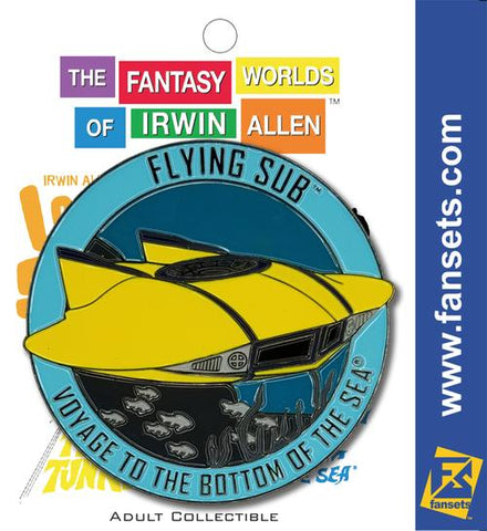 Irwin Allen's Flying Sub Vehicle MicroFleet Pin (Voyage to the Bottom of the Sea)