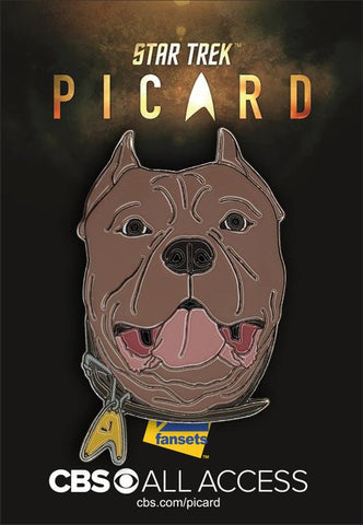 "Picard's ""Number One"" Dog Collectible Pin (Star Trek: Picard)"