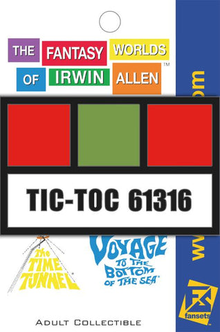 Irwin Allen's Project Tic-Toc Employee Badge Pin (The Time Tunnel)