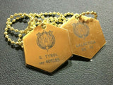BATTLESTAR GALACTICA Chief Tyrol Replica Metal Dog Tags