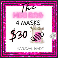 The Mini Bag - Mystery Grab Bag With 4 Cloth Face Masks