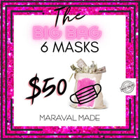 The Big Bag - Mystery Grab Bag With 6 Cloth Face Masks
