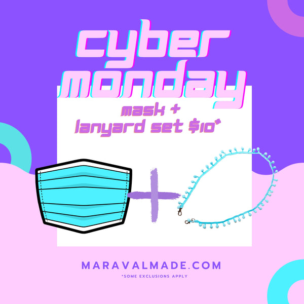 CYBER MONDAY BUNDLE- Mask and Lanyard for $10